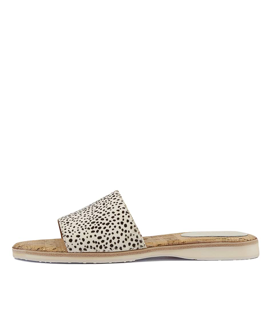 Buy Rollie Sandal Slide Snow Leopard Flat Sandals online with free shipping
