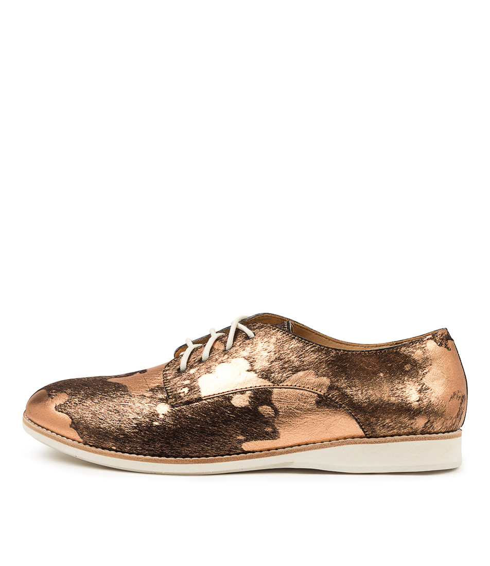 Buy Rollie Derby Rl Print Bronze Splat Flats online with free shipping