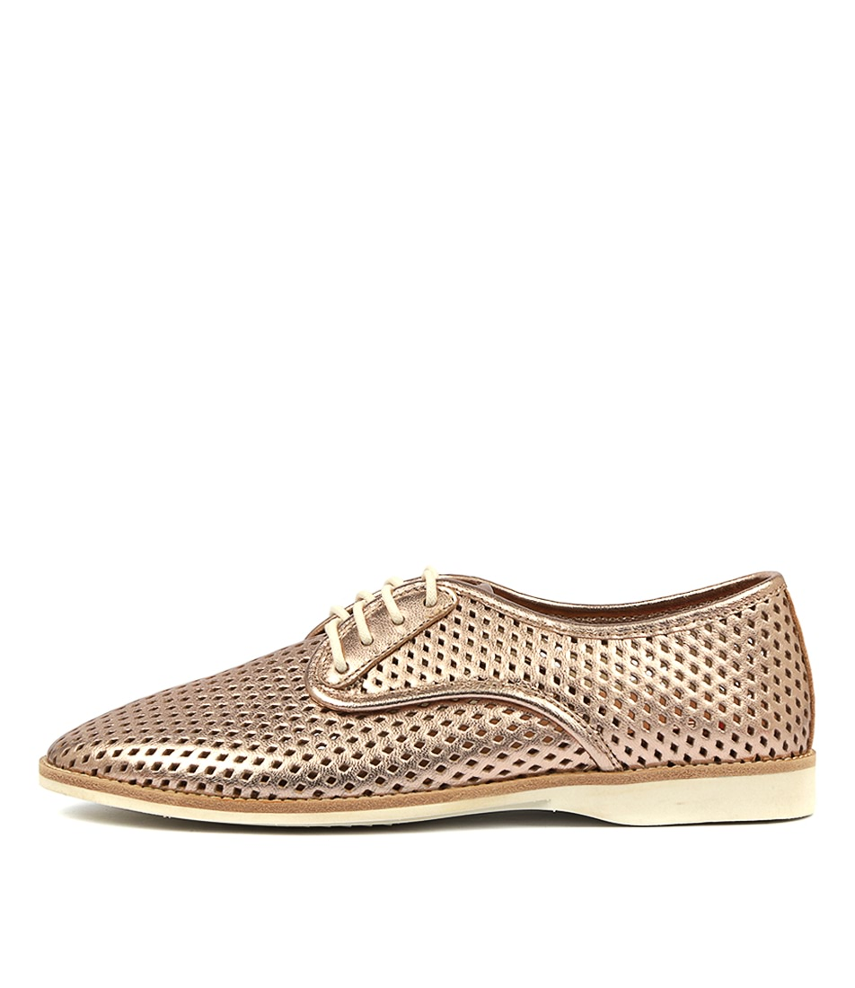 Buy Rollie Derby Punch X Rose Gold Flats online with free shipping