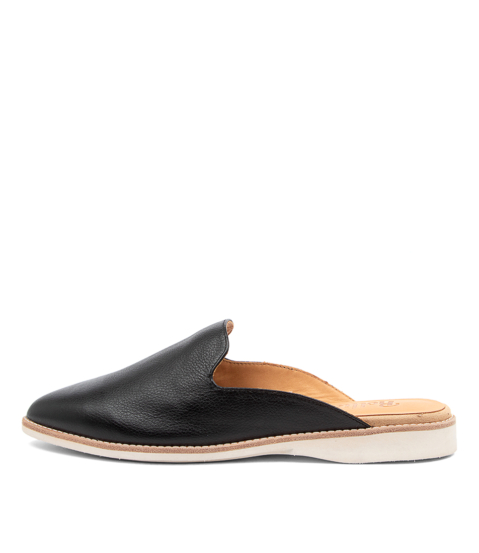 Buy Rollie Madison Mule Black Flats online with free shipping
