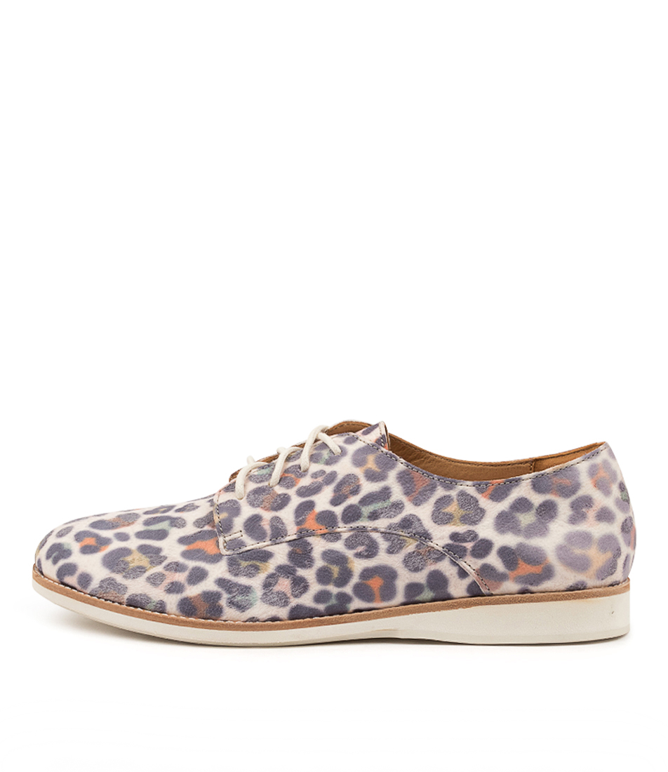 Buy Rollie Derby Print X Rainbow Leopard Flats online with free shipping