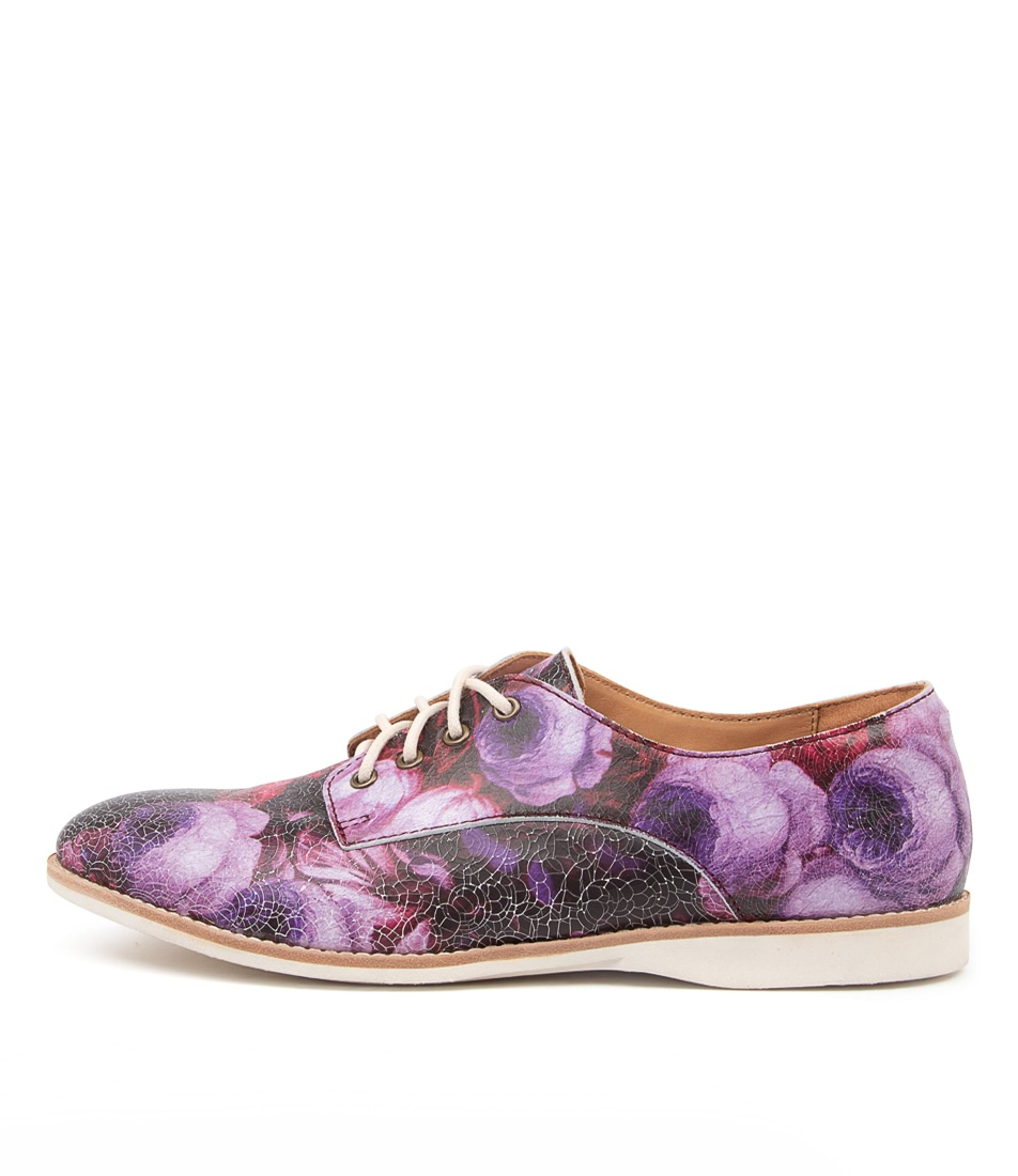Buy Rollie Derby Print X Cracked Flower Flats online with free shipping