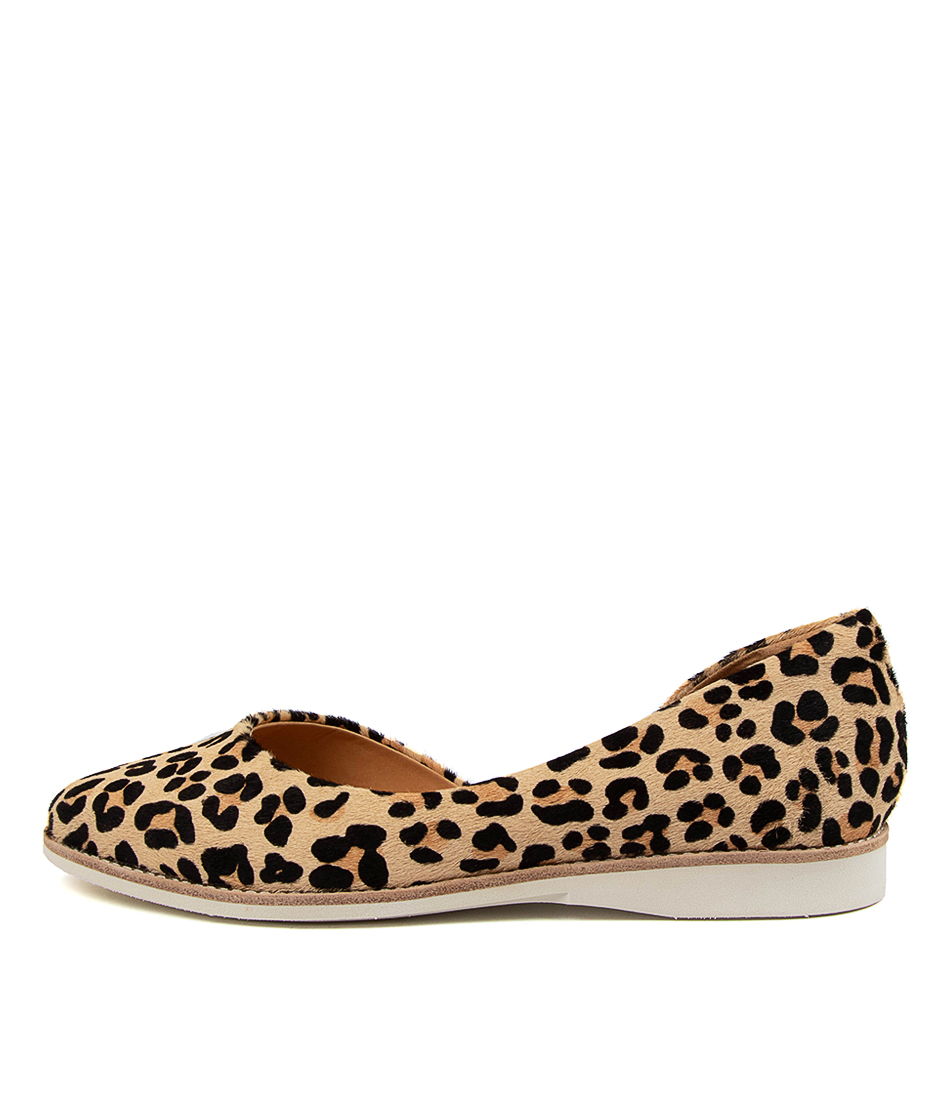 Buy Rollie Madison D'orsay Rl Camel Leopard Flats online with free shipping