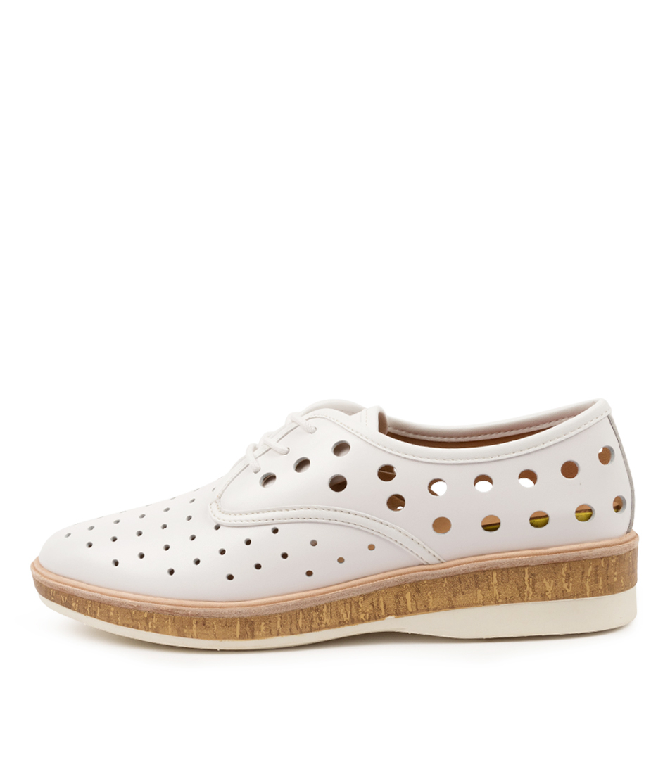 Buy Rollie Derby Midsole Cork Rl White High Heels online with free shipping