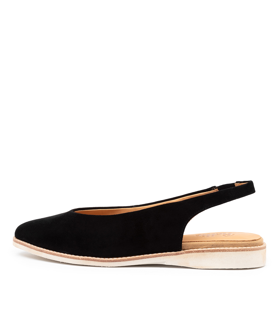 Buy Rollie Madison Slingback Rl Black Flats online with free shipping