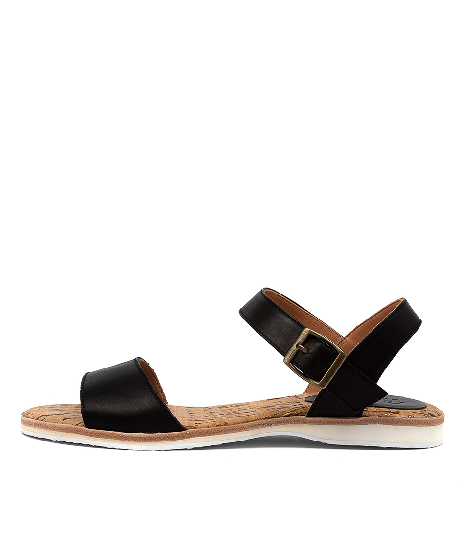 Buy Rollie Sandal Rl Black Flat Sandals online with free shipping