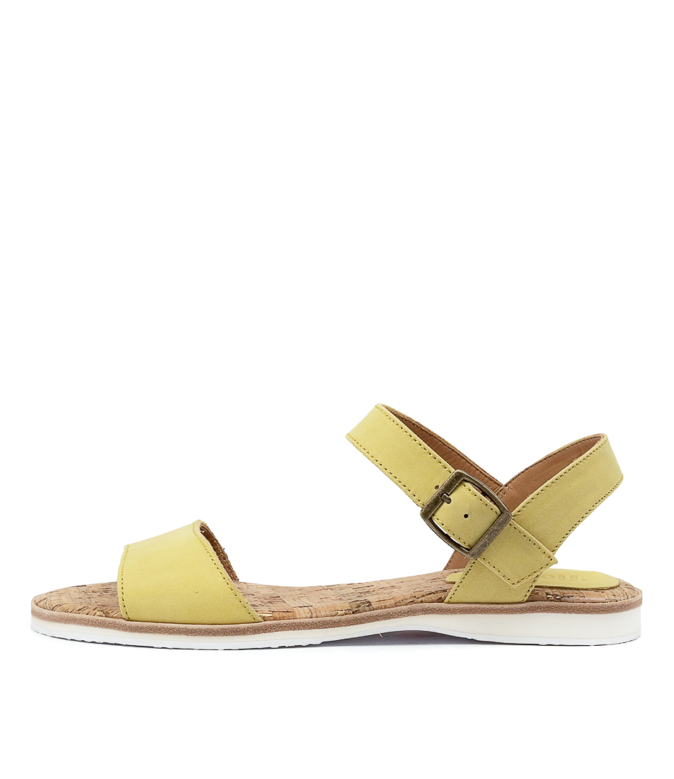 Buy Rollie Sandal Rl Yellow Flat Sandals online with free shipping