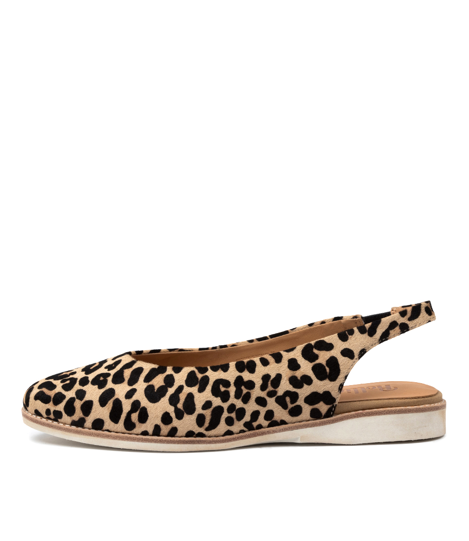 Buy Rollie Madison Slingback Pony Rl Camel Leopard Flats online with free shipping