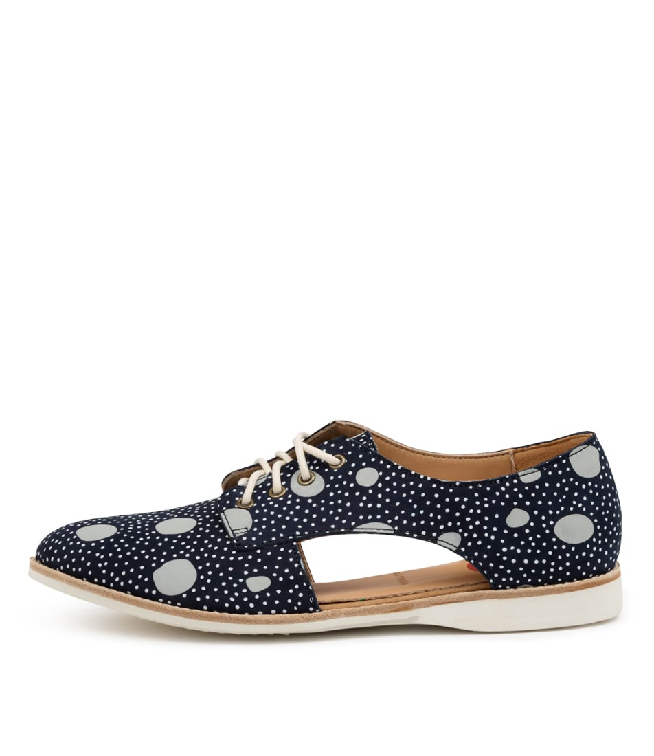 Buy Rollie Sidecut Print Rl Navy Artistic Dots Flats online with free shipping