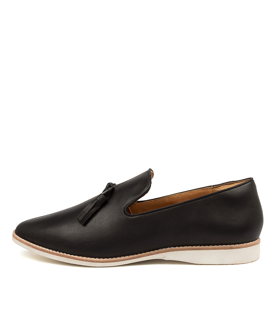 Buy Rollie Madison Albert Rl Black Flats online with free shipping