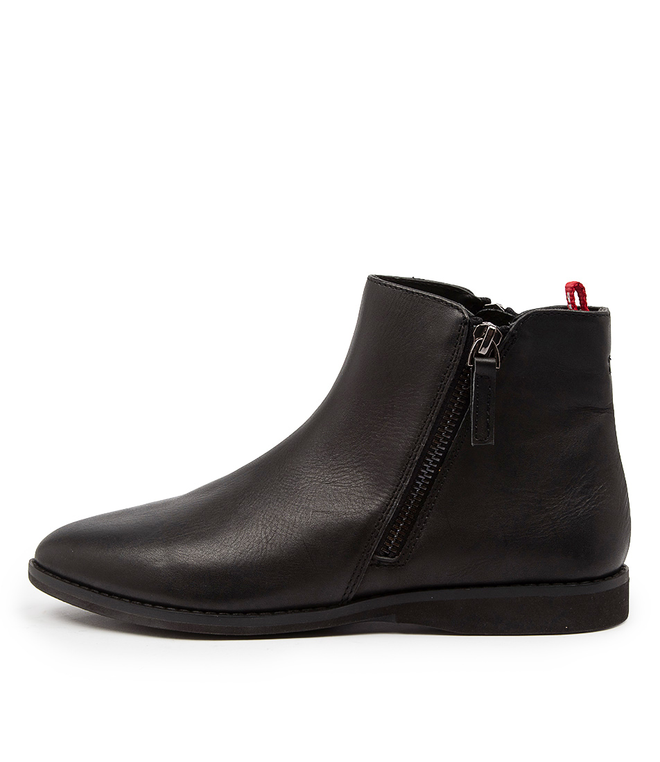 Buy Rollie Madison Side Zip Boot Rl Black Ankle Boots online with free shipping