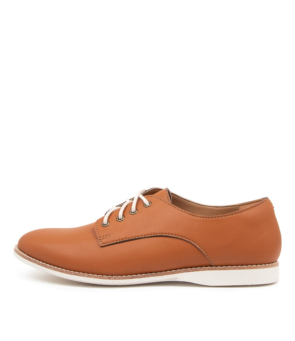 Buy Rollie Derby Vegan Rl Cognac Flats online with free shipping