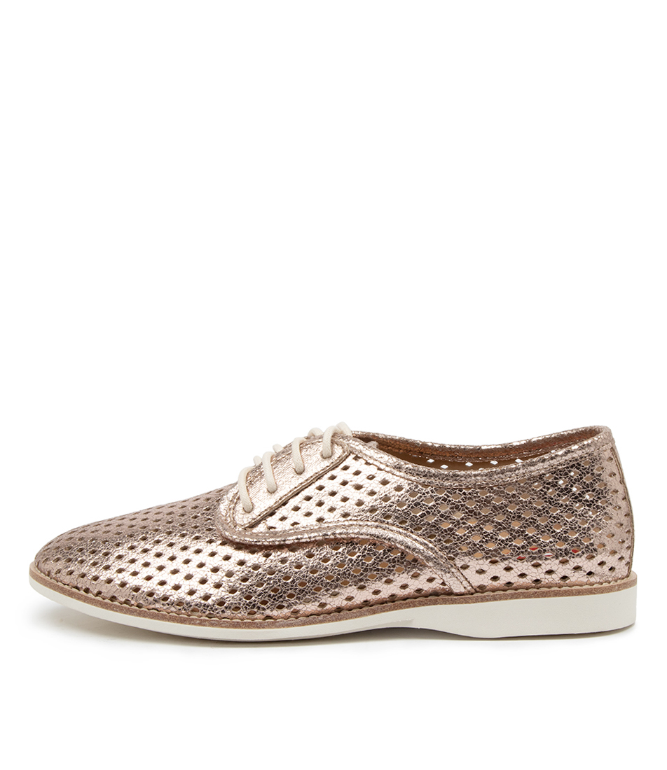 Buy Rollie Derby Punch Vegan Rl Rose Gold Flats online with free shipping