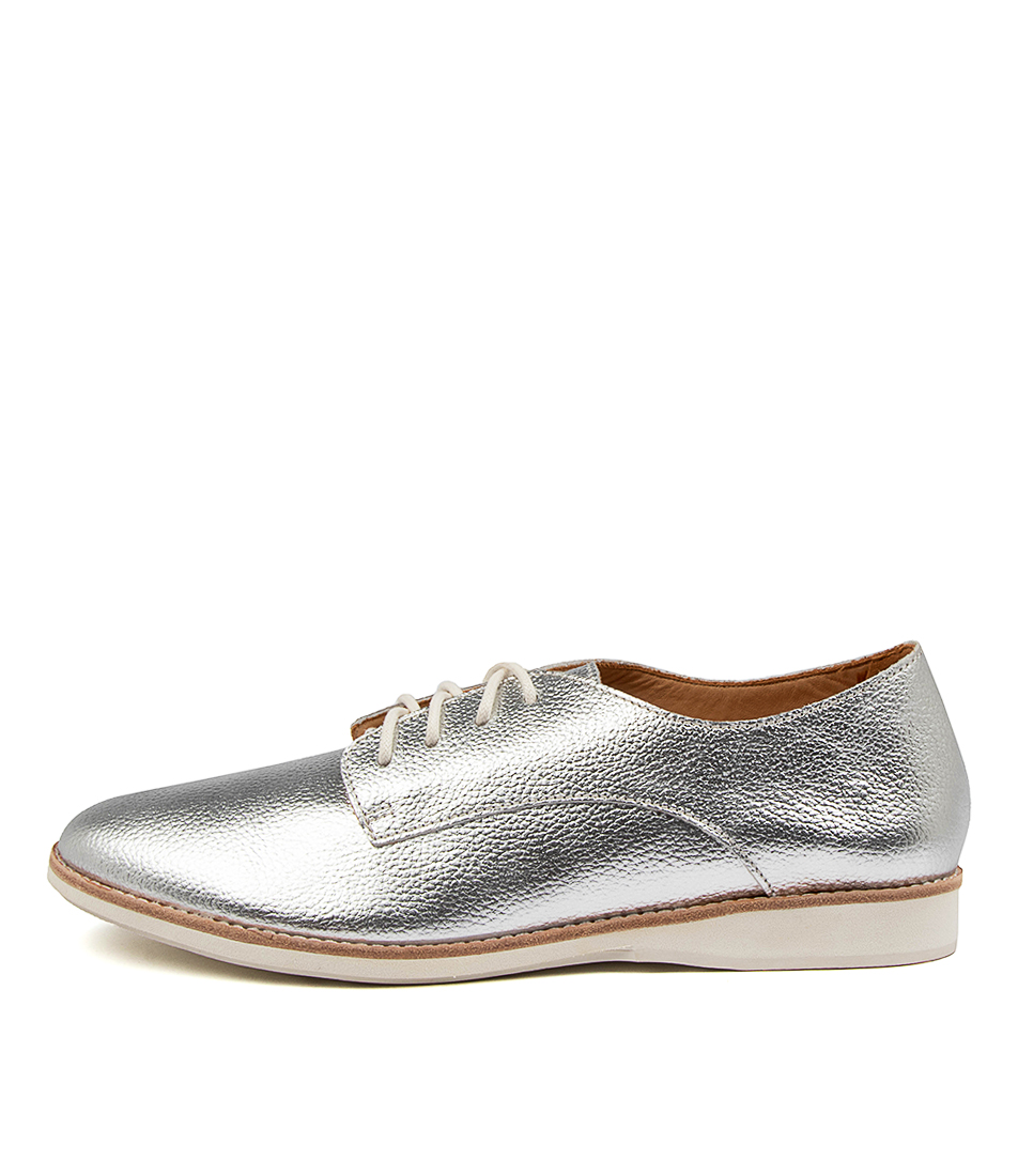Buy Rollie Derby Unlined Metallic Rl Silver Metallic Flats online with free shipping