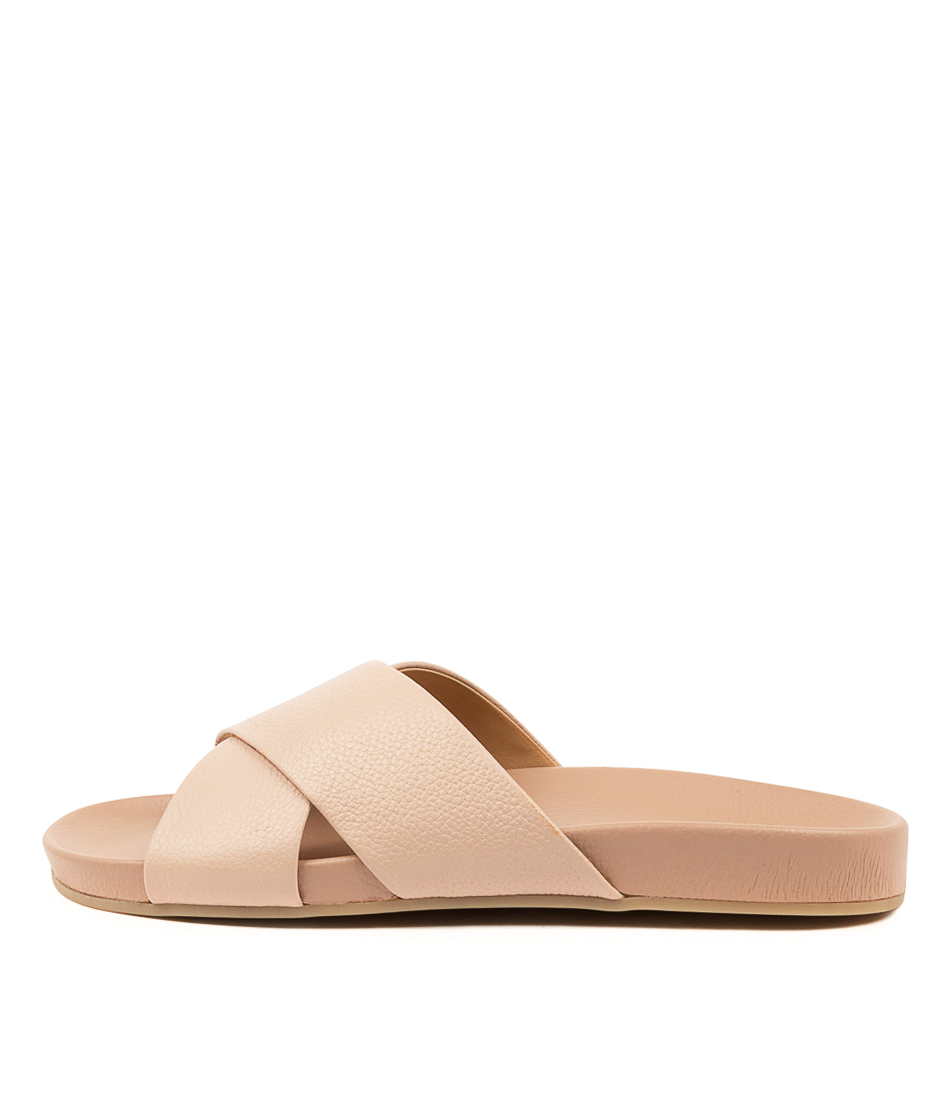 Buy Rollie Tide Cross Slide Rl Snow Pink Flat Sandals online with free shipping