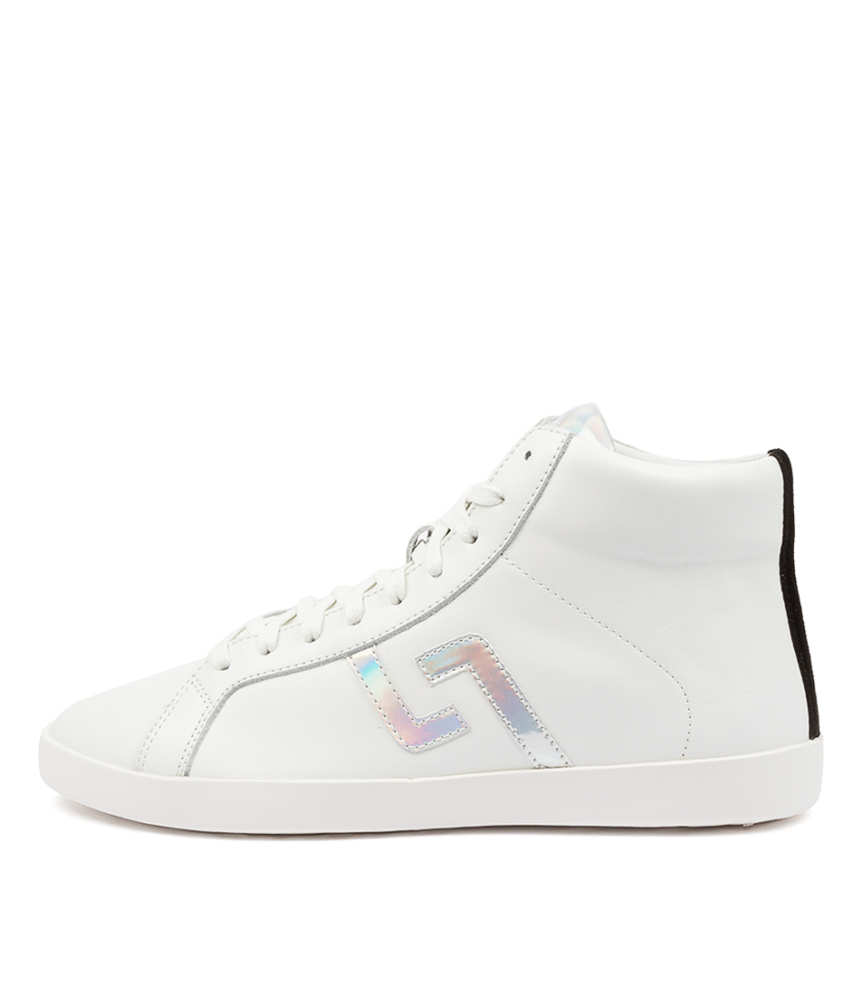 Buy Rollie Prime High Top Rl White Iridescent Sneakers online with free shipping