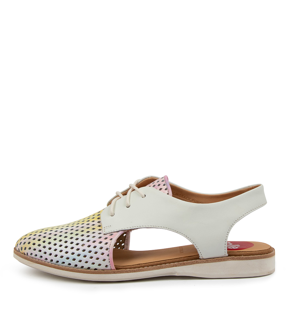 Buy Rollie Slingback Punch Rl Watercolour Flats online with free shipping