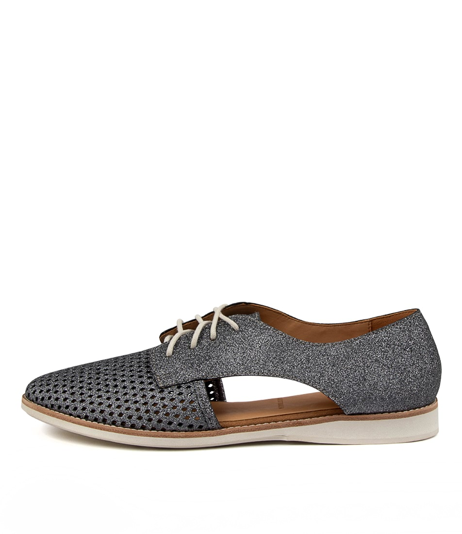 Buy Rollie Sidecut Punch Xx Rl Charcoal Glitter Flats online with free shipping