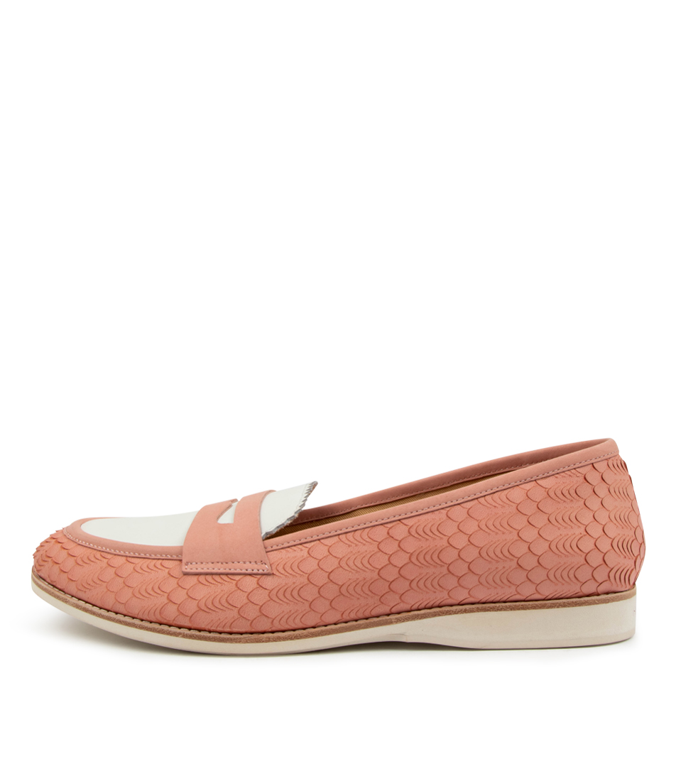 Buy Rollie Penny Loafer Rl Pink Geo Flats online with free shipping