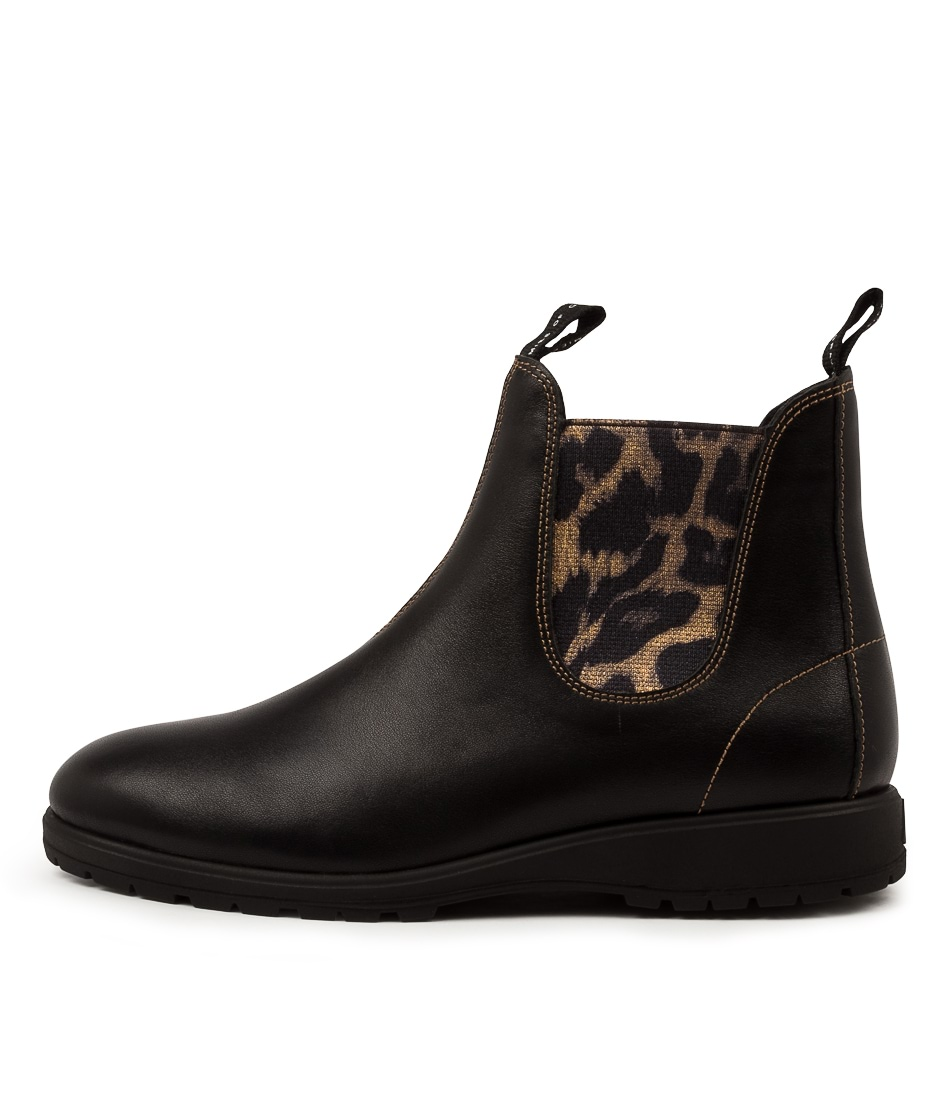 Buy Rollie Fields Chelsea Rl Gold Leopard Ankle Boots online with free shipping