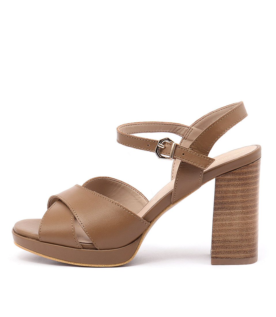 Rmk Brenda Rm Cognac Dress Heeled Sandals