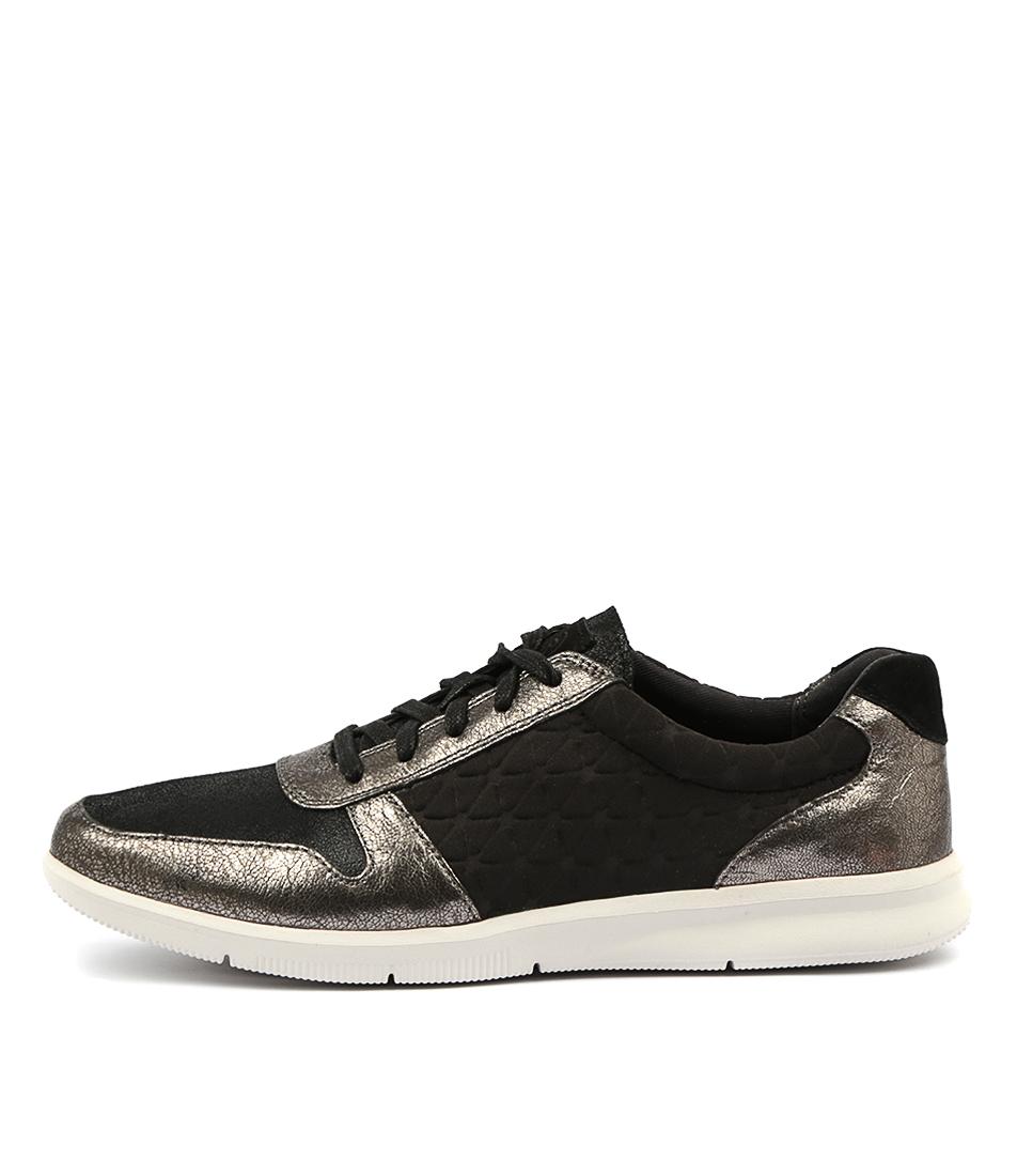Rockport City Lite Ayva Tie Black Sneakers