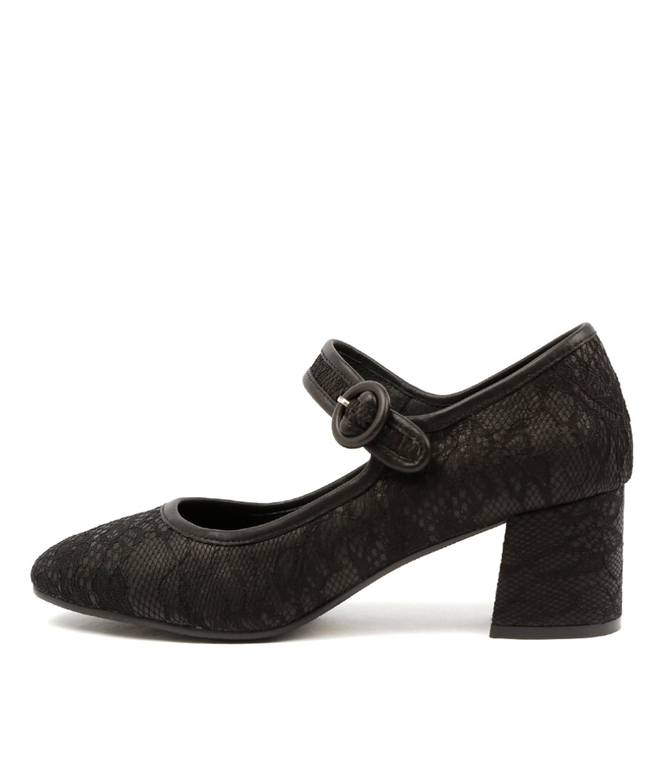 Top End Santini Black Dress Heeled Shoes