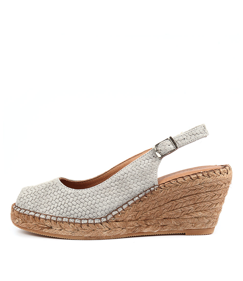 Sofia Cruz Ana 11 Sc Grey Print Heeled Sandals