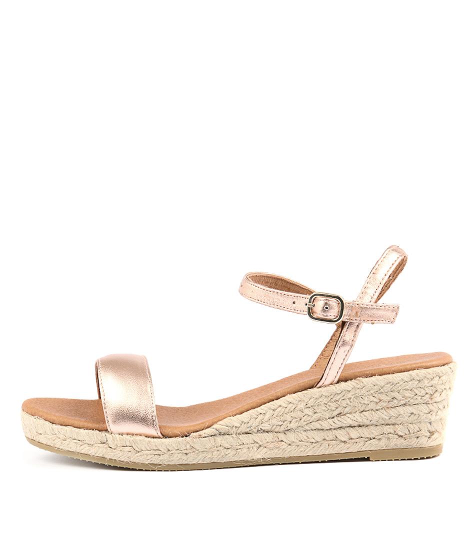 Sofia Cruz Moli Sc Metal Grain Ros Heeled Sandals