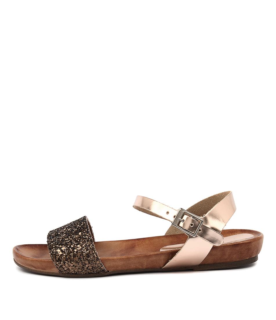 Sofia Cruz Madonna Cipria Glitter Casual Flat Sandals