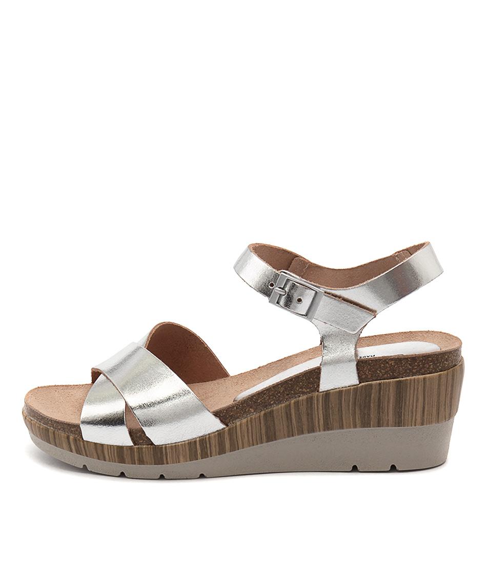 Sofia Cruz Ysabel Cristal Plata Heeled Sandals