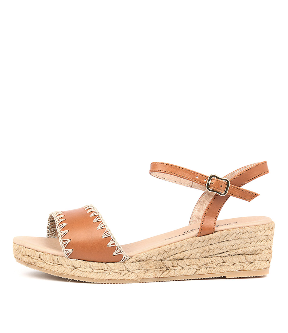 Sofia Cruz Gila Cuero (Tan) Heeled Sandals
