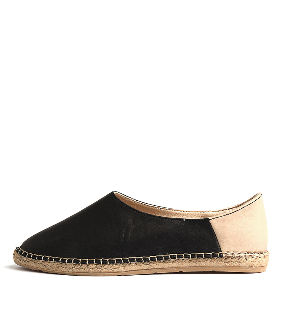 Sofia Cruz Iris 55 Negro Beige Flat Shoes