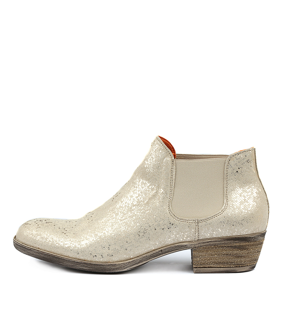 Photo of Sofia Cruz Jiminy Gold Ankle Boots womens shoes
