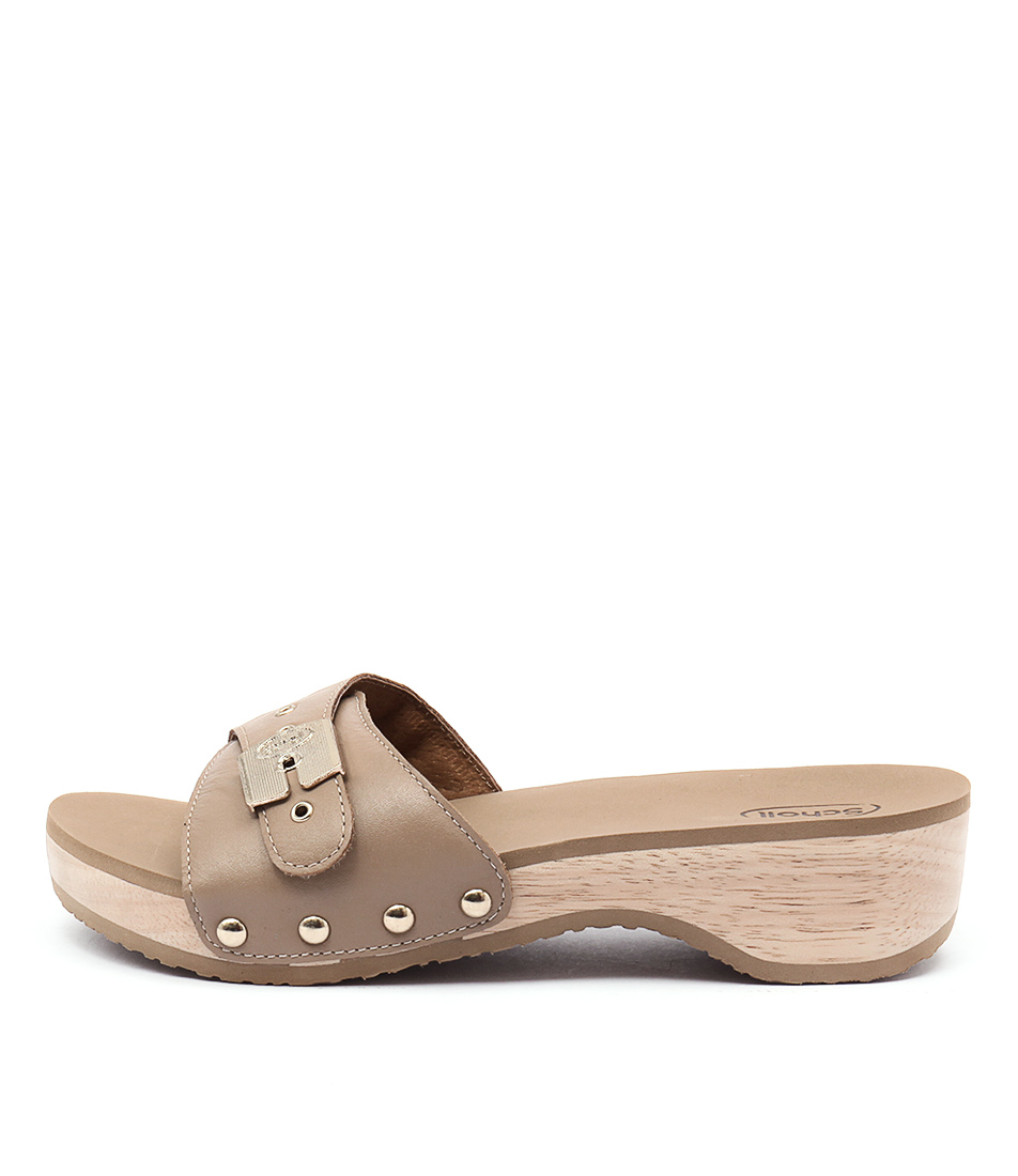 Scholl Paramount Beige Casual Heeled Sandals