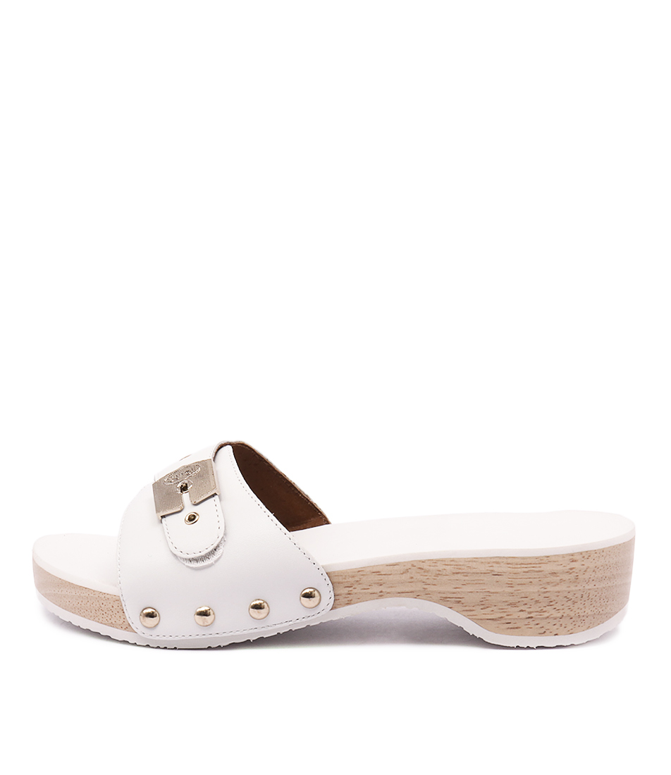 Scholl Paramount White Heeled Sandals