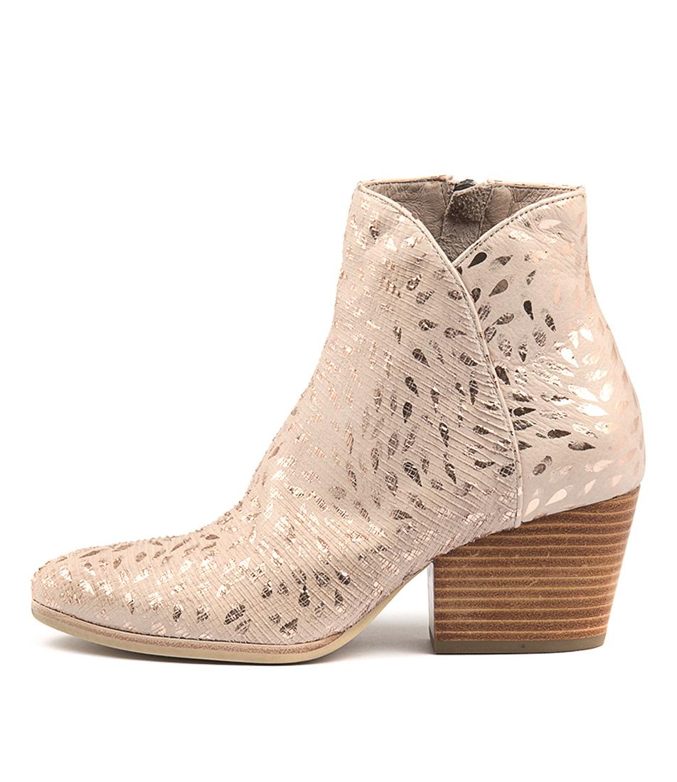 Silent D Andrea Pale Pink Rain Ankle Boots