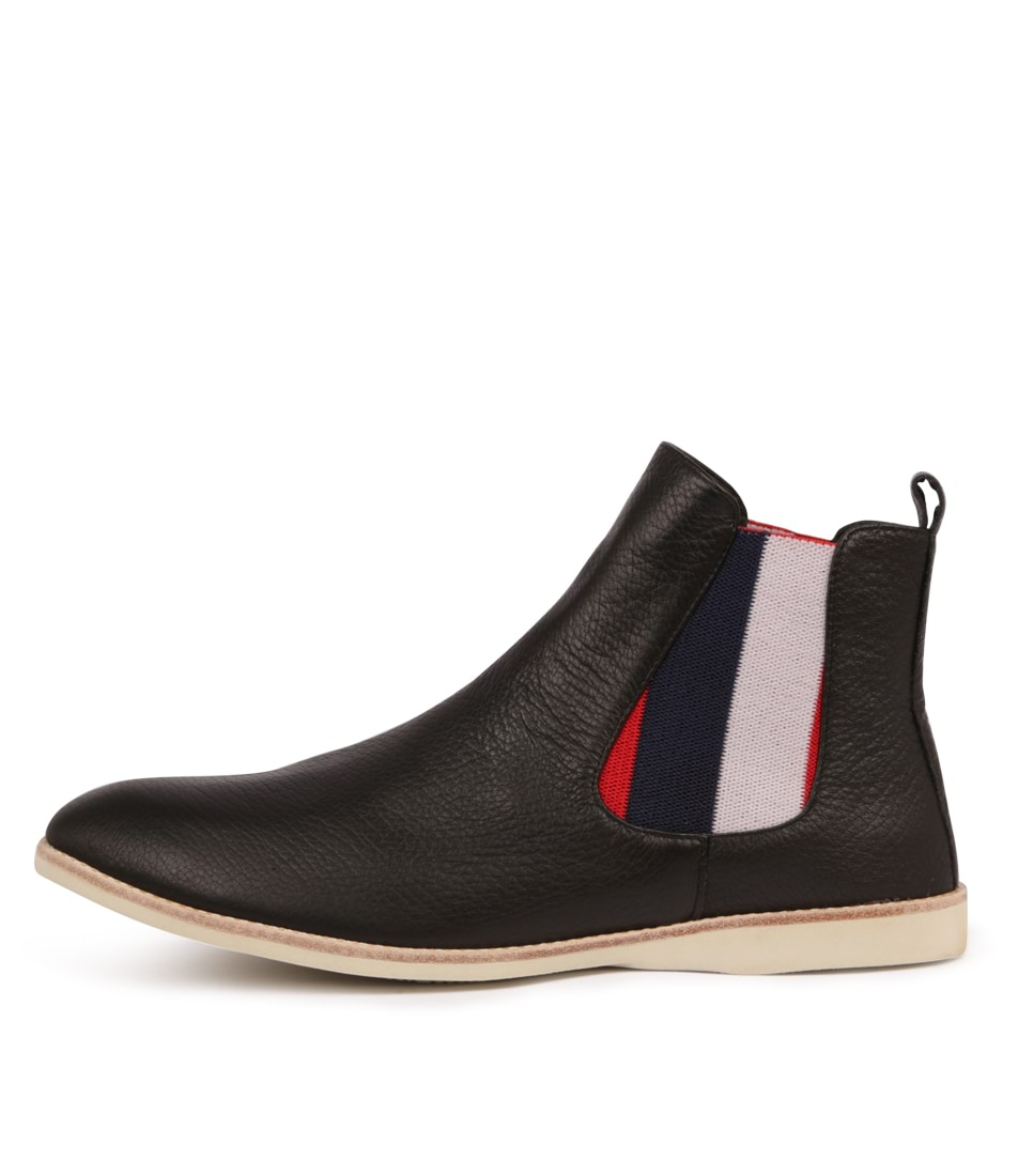 Buy Silent D Nearly Black Red Strip Dress Ankle Boots online with free shipping