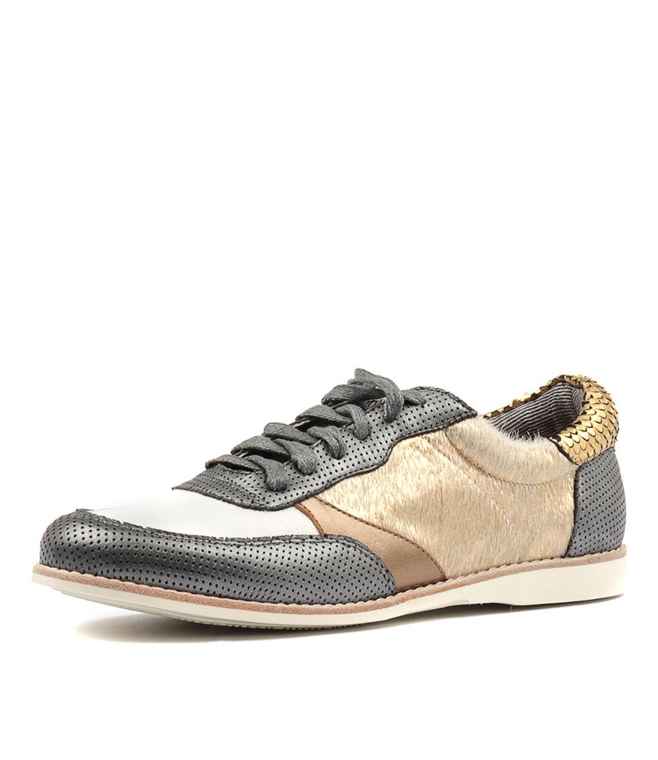 Silent D Ranita Steel & Off White Sneakers