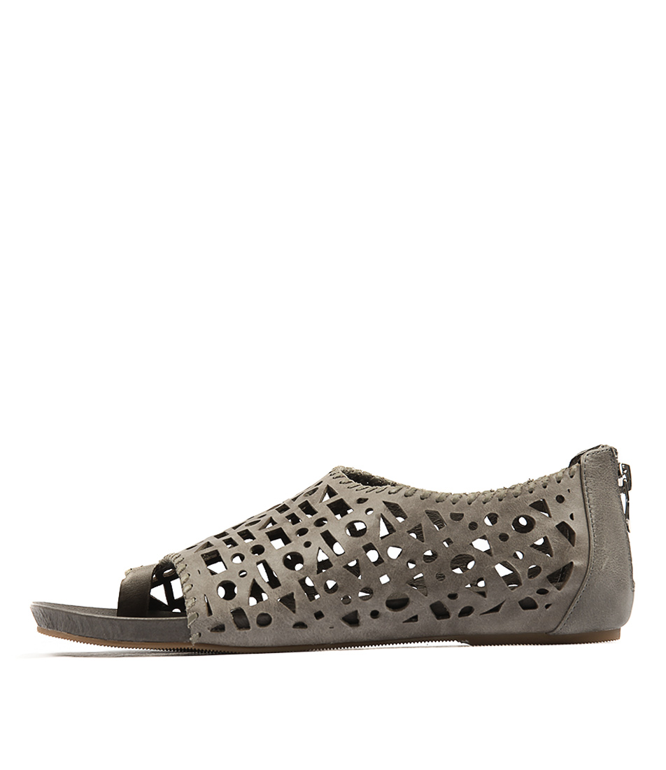 Silent D Drako Charcoal Khaki Sandals