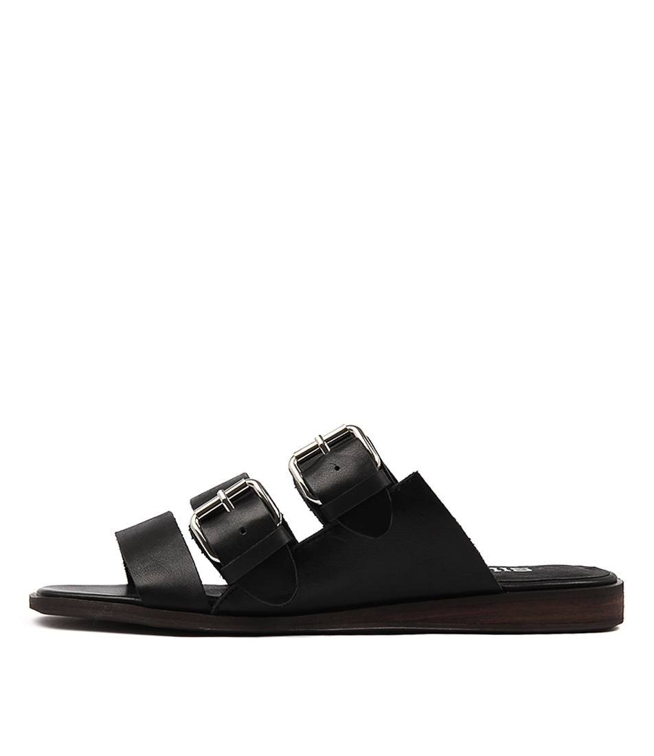 Silent D Gnomes Black Sandals