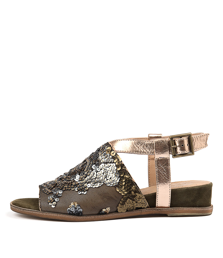 Photo of Silent D Grind Khaki Heeled Sandals womens shoes