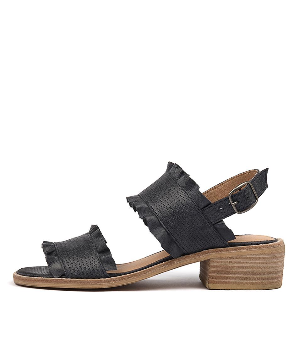 Silent D Idalia Navy Heeled Sandals
