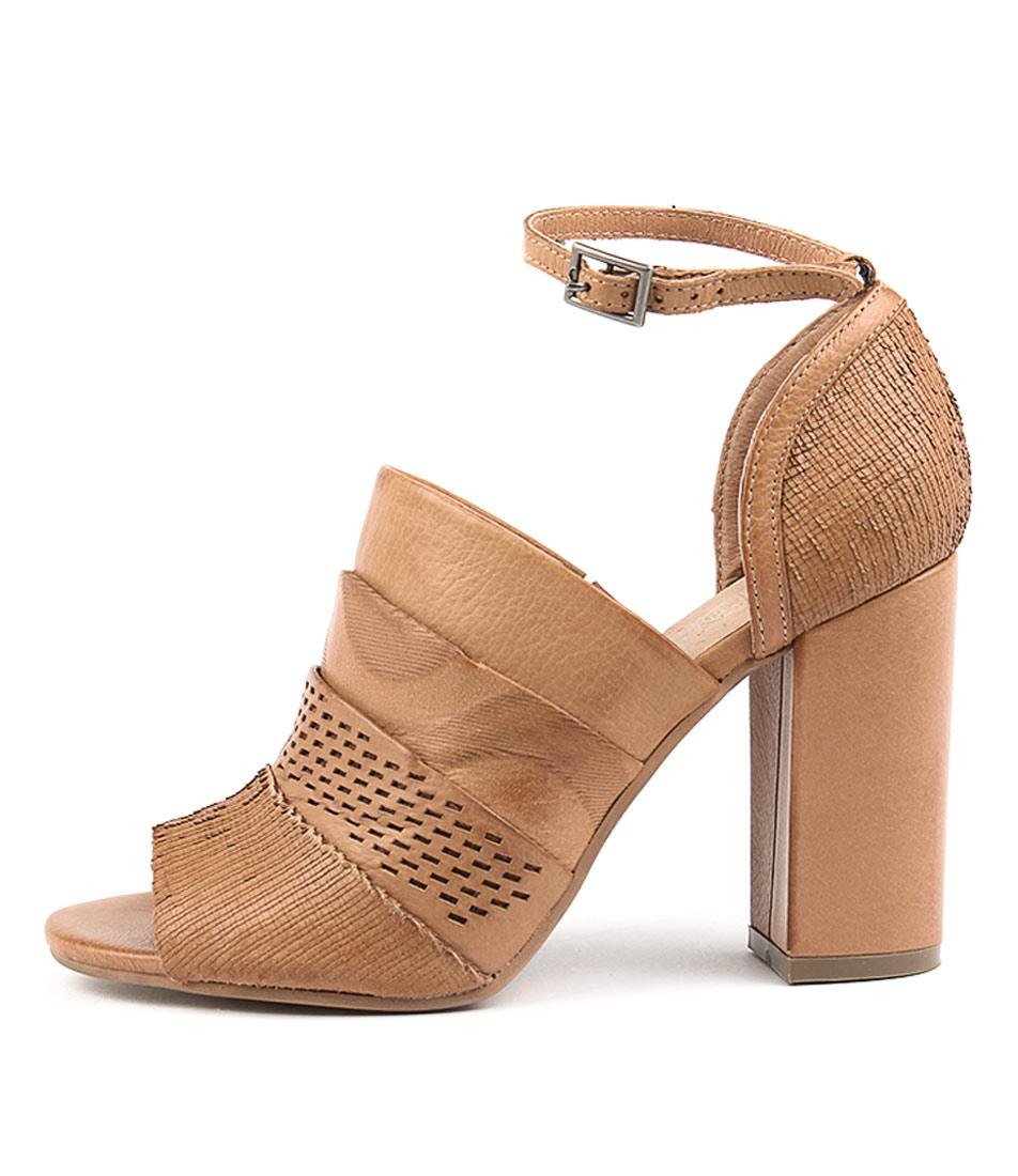 Silent D Krash Dk Tan Heeled Sandals