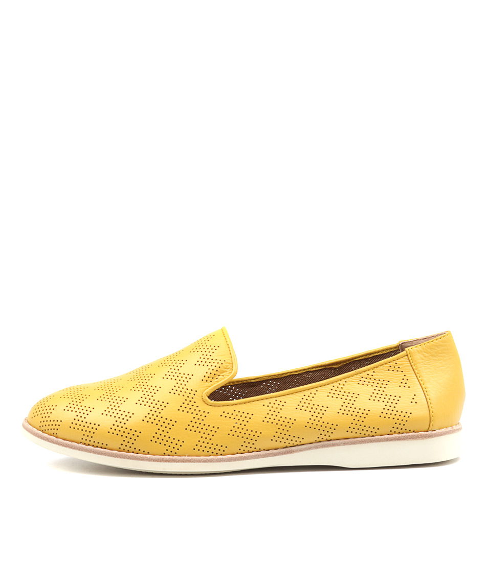 Silent D Nix Yellow Flat Shoes