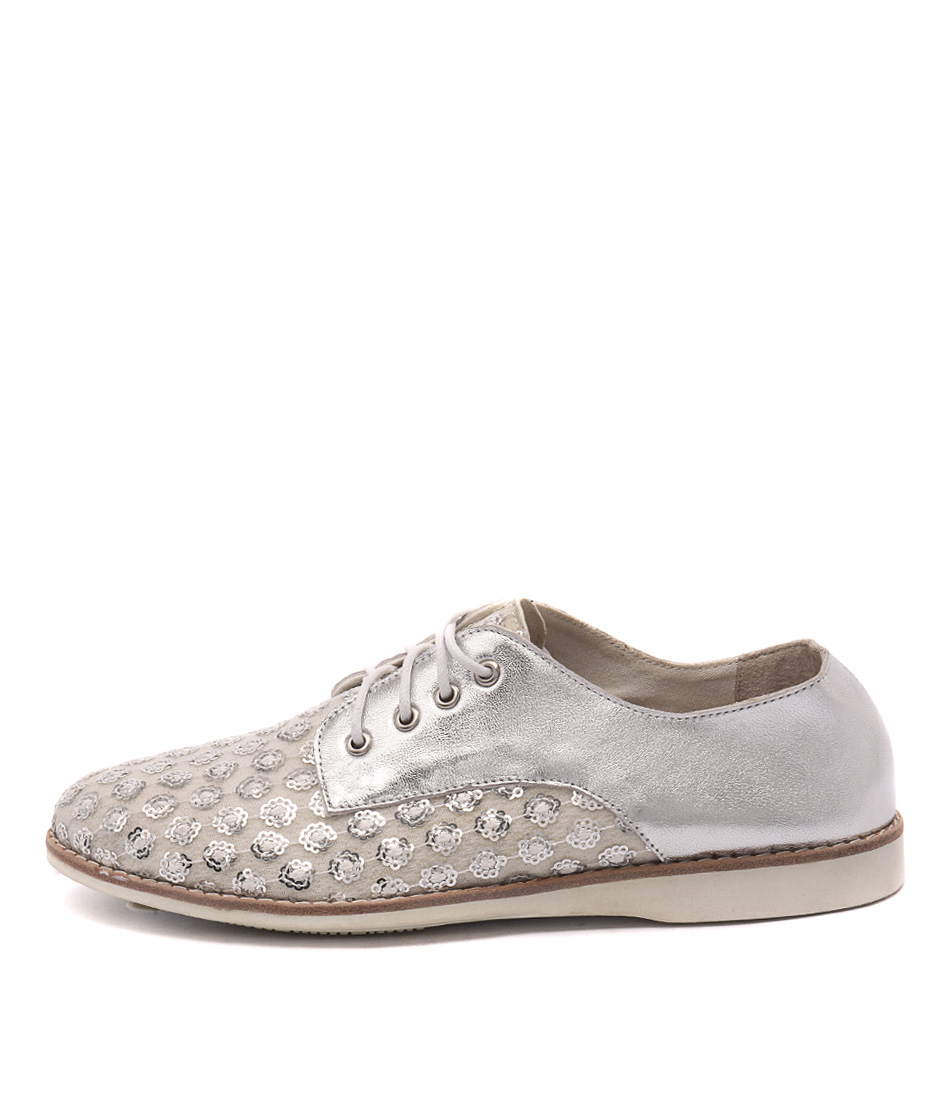 Silent D Nolla White & Silver Sp Casual Flat Shoes buy  online