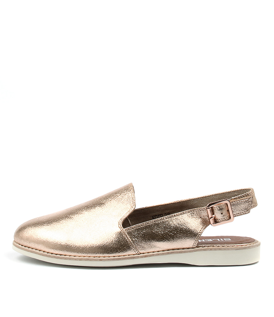 Silent D Nosh Rose Gold Casual Flat Shoes