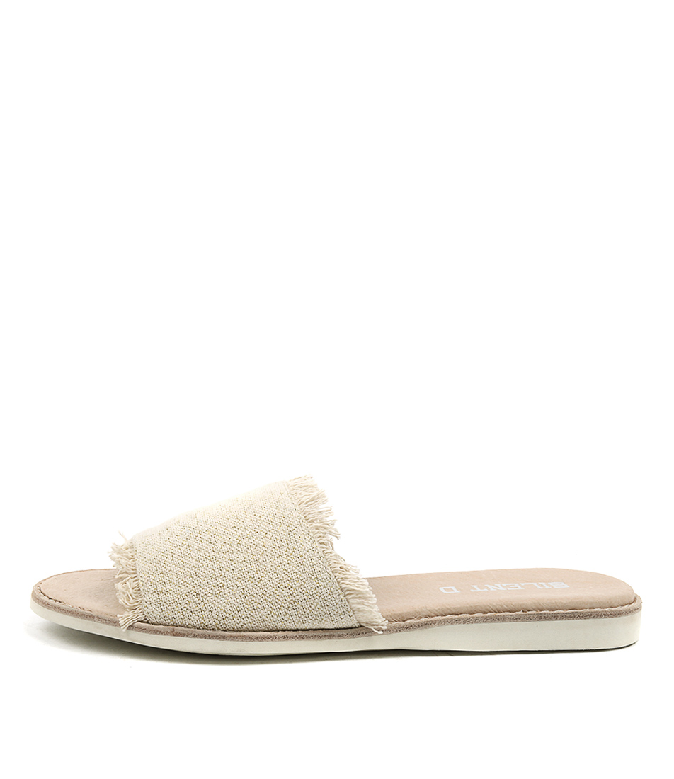 Silent D Reel Natural & Gold Li Sandals