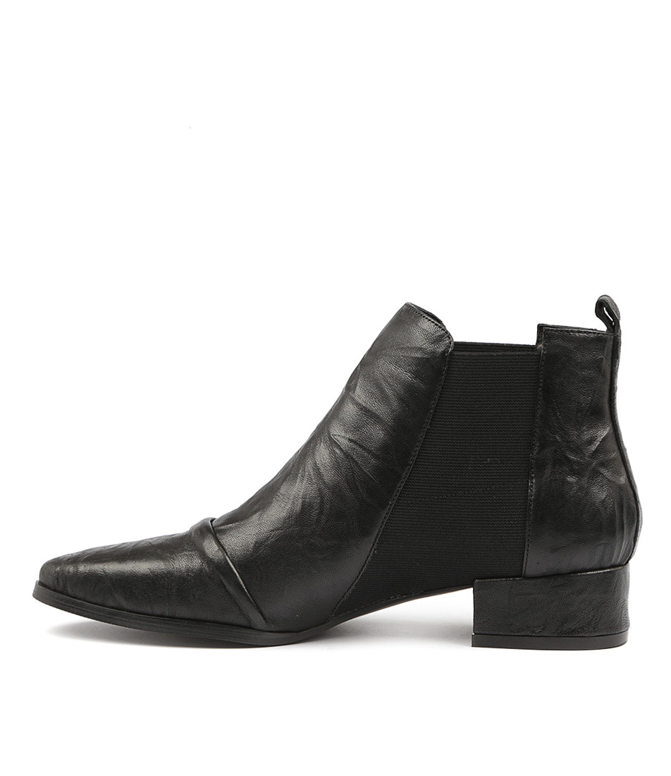 Silent D Muscle Black Ankle Boots
