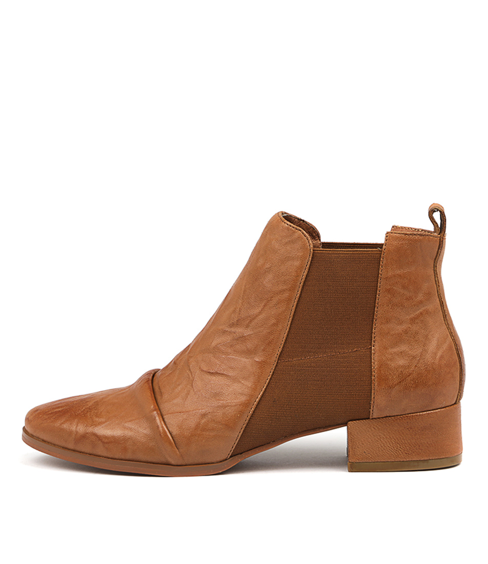 Silent D Muscle Tan Ankle Boots